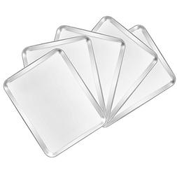 Baking Sheets 5 Pieces, Bastwe Cookie Sheets Set of 5 Stainl
