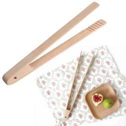 Bamboo-Wooden Food Toast Tongs <font><b>Toaster</b></font> B