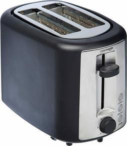 Basics 2 Slice Extra Wide Slot Toaster - Black