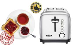 Bella BLA14466 - Classics 2-Slice Wide-Slot Toaster - Stainl
