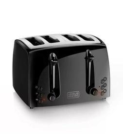 Black&Decker 4 Slice Toaster Black 7-Settings 2 Slide Out Cr