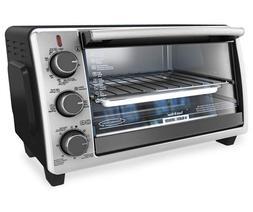 Black & Decker 4-Slice Toaster Oven TO1303SB
