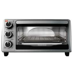 Black & Decker - 4-Slice Toaster Oven - Stainless Steel