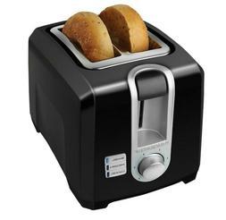 BLACK+DECKER 2-Slice Extra Wide Slot Toaster, Black New