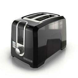 BLACK + DECKER 2 - Slice Extra Wide Slot Toaster, Black, T25