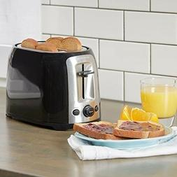 BLACK DECKER 2-Slice Extra Wide Slot Toaster Classic Oval St
