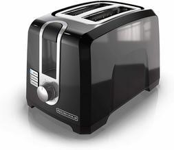 BLACK DECKER 2 Slice Square Extra-Wide Slot Toaster Color Bl