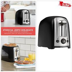 BLACK+DECKER 2 Slice Toaster Extra-Wide Slots w/ Crumb Tray