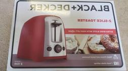 BLACK+DECKER 2-Slice Toaster, Red, TR1278TRM