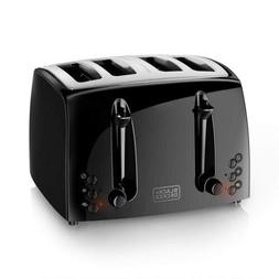 BLACK+DECKER 4-Slice Toaster, Extra-Wide, Black, TR1410BD Bl