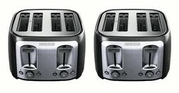 BLACK + DECKER 4-Slice Toaster with Extra-Wide Slots Black