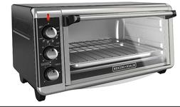 BLACK+DECKER 8-Slice Stainless Steel/Black Convection Counte