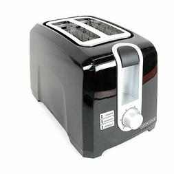 Black+Decker Extra Wide Self Centering 2-Slice Toaster Black