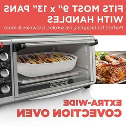 BLACK+DECKER TO3250XSB Extra Wide 8-Slice Convection Counter