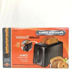 Proctor Silex - Black - Toaster - 22612 2 Slice Extra Wide S