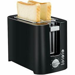 Bonsenkitchen 2-slice Black Toaster Small Compact Bread For
