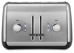 BRAND NEW - KitchenAid 4-Slice Toaster, Contour Silver