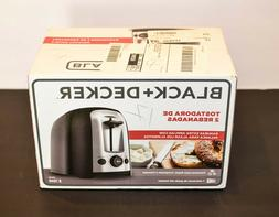 BRAND NEW BLACK & DECKER 2 SLICED BREAD / BAGEL TOASTER. 7 T