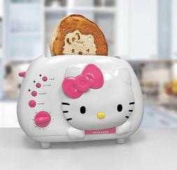 Hello Kitty Bread Toaster 2 Slice Wide Slot Cool Touch Exter