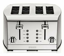 KRUPS Breakfast Toaster Brushed with Dual Independent Contro