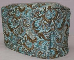 Brown & Teal Paisley Toaster Cover
