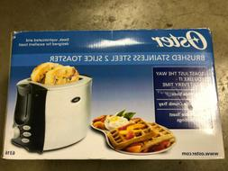 Oster Brushed Stainless Steel 2 Slice Toaster New 6316