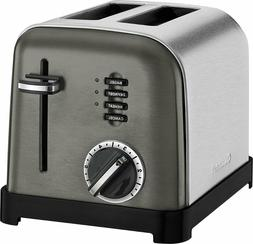 Cuisinart - Classic 2-Slice Wide-Slot Toaster - Black/Stainl