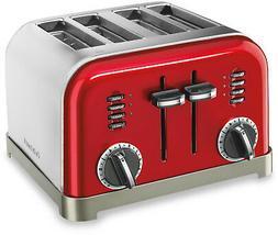 Cuisinart Classic 4-Slice Toaster in Metallic Red