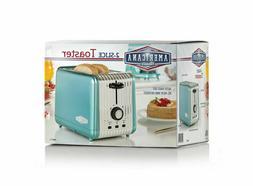 Americana Classics 2-Slice Toaster Blue AMC-T1 Retro Look Re