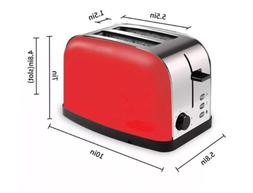 Classics 2-Slice Wide-Slot Toaster Stainless Steel Anti-jam