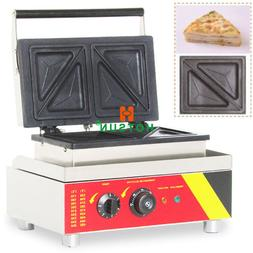 Commercial 110V 220V Electric Sandwich Toaster Waffle Press