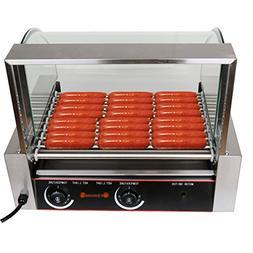 Ridgeyard 1260W Commercial 24 Hot Dog Maker 9 Roller Grillin