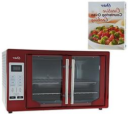 Oster XL Digital Convection Oven w/ French Doors & Recipe Bo