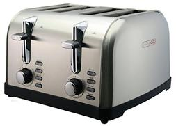 Cookmate Classic Stainless Steel 4-Slice Toaster - 7 Tempera