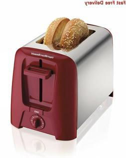 Hamilton Beach Cool Wall 2-Slice Toaster, Red