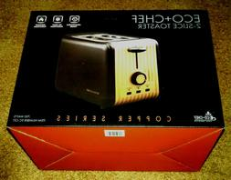 ECO+CHEF Copper Series 2 Slice Toaster Black + Copper  BRAND