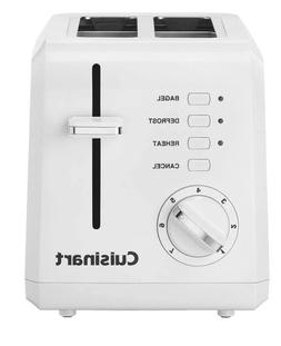 Cuisinart CPT-122 2-Slice Compact Plastic Toaster - White -