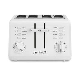 Cuisinart CPT-142P1 Compact 4-Slice Toaster, White New