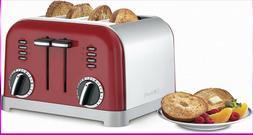Cuisinart CPT-180MR Classic 4-Slice Toaster, Metallic Red, S