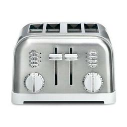 Cuisinart CPT-180W Metal Classic 4-Slice Toaster, White and