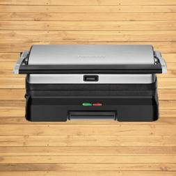 CUISINART GRIDDLER GRILL AND PANINI MAKER BRUSHED STAINLESS