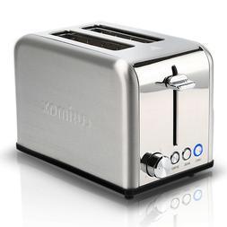 Cusimax CMST-80S Dual Long Slot Artisan Toaster Appl The Bak