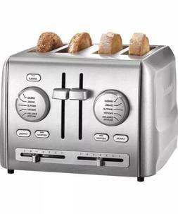 Cuisinart Custom 4 Slice Bread Bagel Toaster Stainless Steel