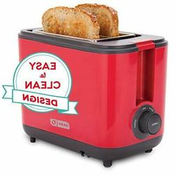 Dash DEZT001RD 2 Slice Extra Wide Slot Easy Toaster with Coo