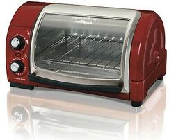 Hamilton Beach Easy Reach Toaster Oven With Roll Top Door Ho