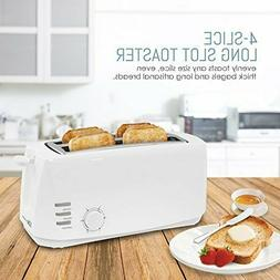 Elite Cuisine ECT-4829 Long Cool Touch Toaster with Extra Wi