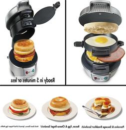 Egg Cheese Ham Fryer Sandwich Maker Cooker Fast Cook Making