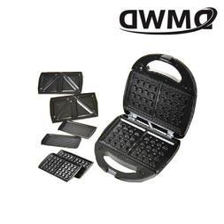 DMWD Electric MINI Egg Waffle Sandwich Maker Grilling 3 Opti