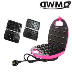 DMWD Electric Walnut Cake Maker Automatic Mini Nut Waffle Br