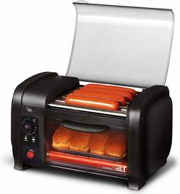 Hot Dog Toaster Oven Stainless Steel Heat Rollers Bake Crumb